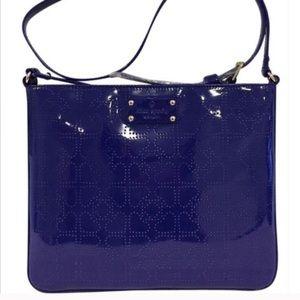 Kate Spade Darby Metro Holiday blue crossbody bag